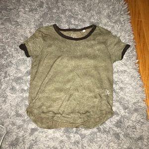 pacsun green crop t shirt